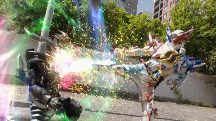 Kamen Rider Build kick!